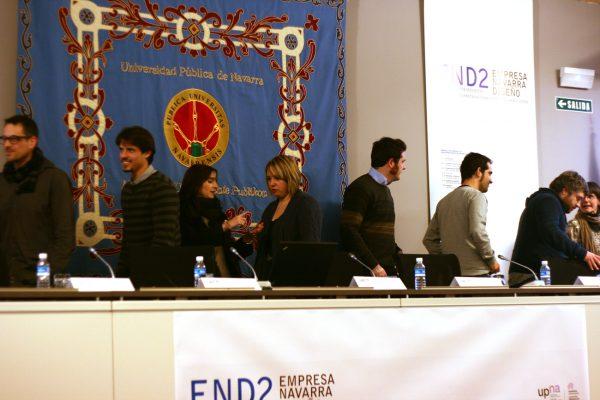 Participantes Conferencia de Kiko Gaspar y Miguel Abarca en las jornadas END2 empresa navarra y diseño