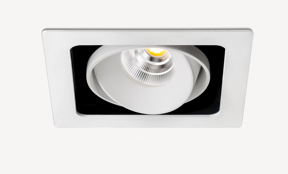 Desarrollo técnico para luz de techo empotrada direccionable diseño de discoh design para arkoslight