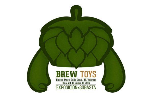 Logotipo de la exposicion brew toys en plastic murs - Ruzafa, valencia - organizada por syntetyk