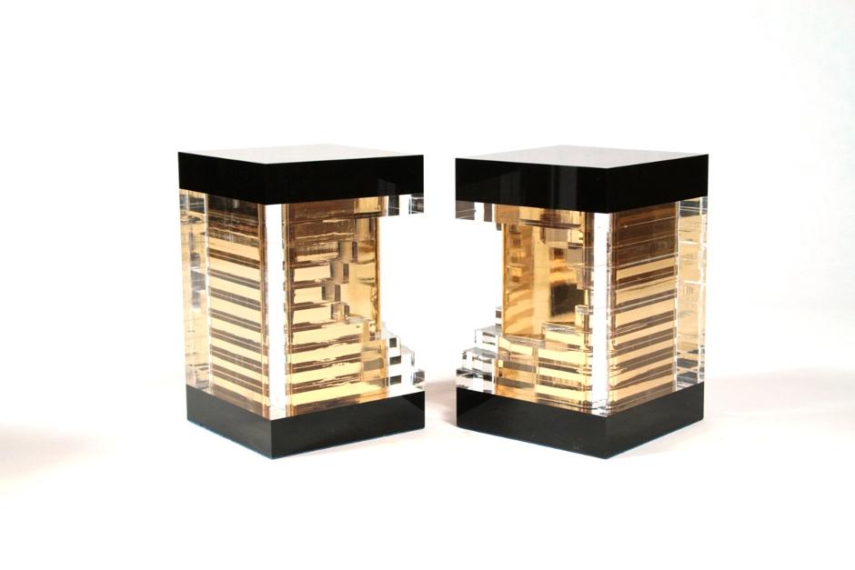 simetria trofeo trophy diseñado por discoh design para premios expone oro cliente edecom21