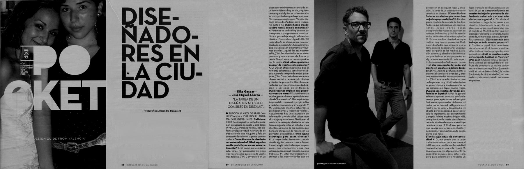 "Entrevista en""Pocket Design Guide"""