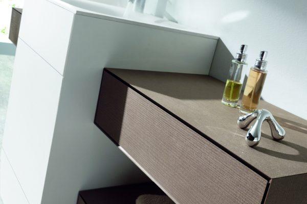 Mueble de baño OLA de discoh design con laminados HPL arpa naturalia marna n03 y solid core KP