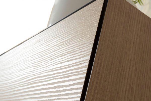 detalle cajón mecanizado a inglete 45 grados del mobiliario de baño OLA de discoh para sistema Midi