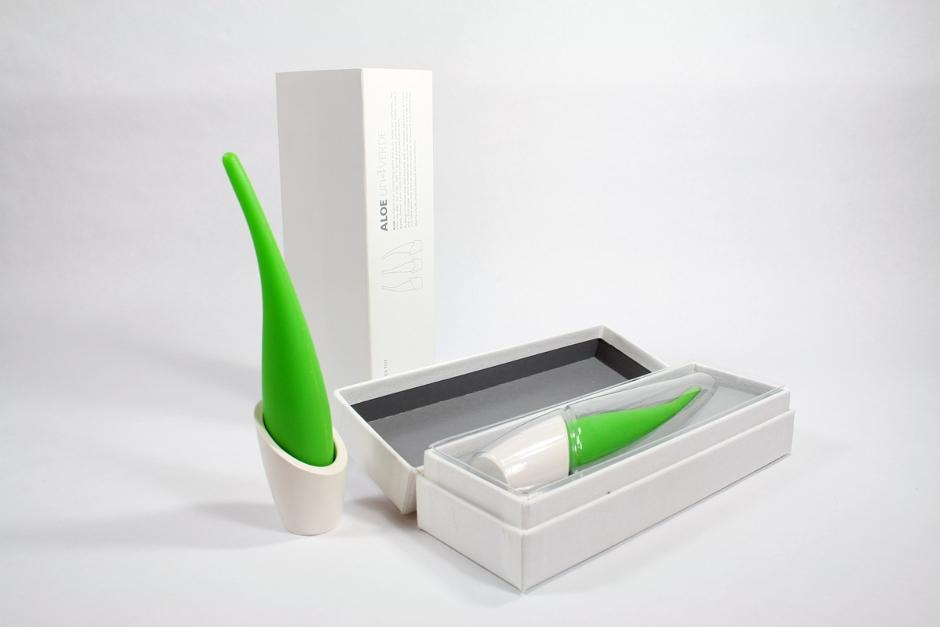 Packaging de estuche y blister termoconformado del juguete erótico aloe de discoh design