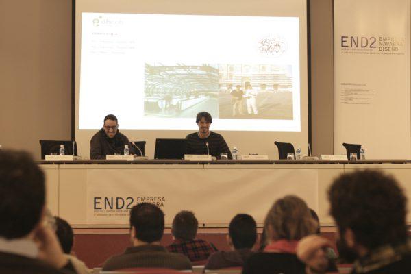 Conferencia de Kiko Gaspar y Miguel Abarca en las jornadas END2 empresa navarra y diseño