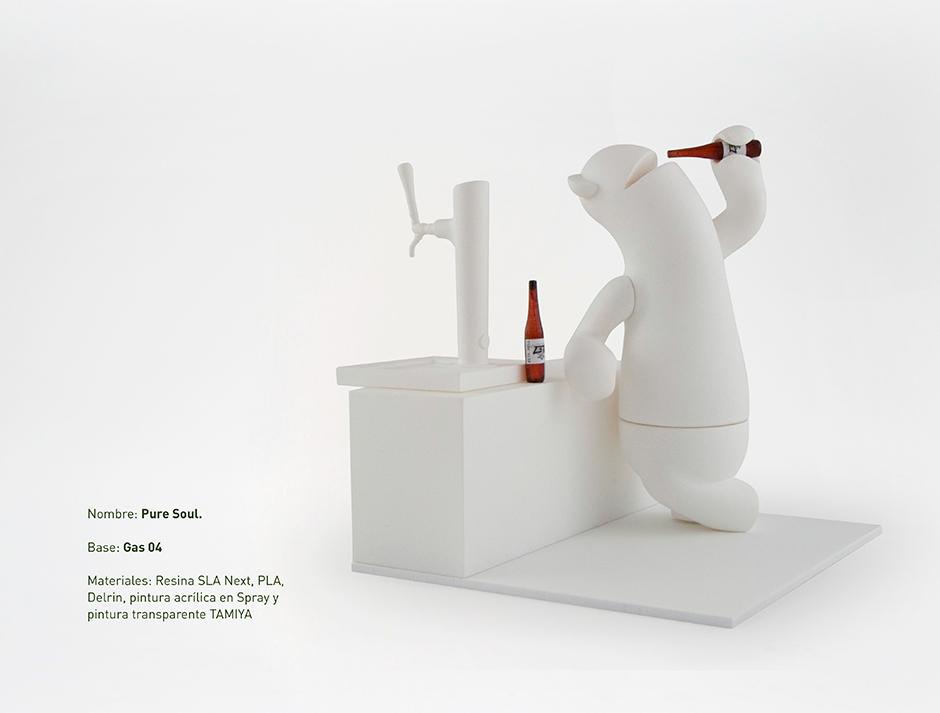 Vinyl toy pure soul diseño de discoh design para la exposicion brew toys de vynil escape y zeta beer