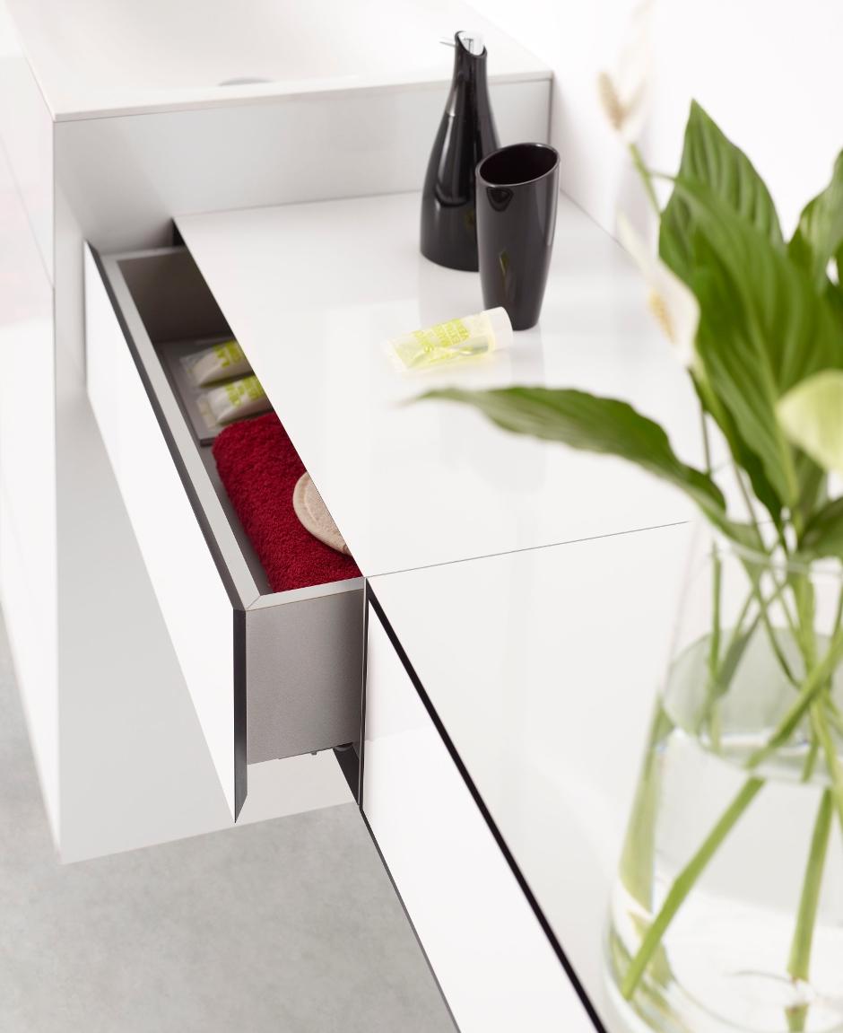 cajón en High pressure laminate arpa del mobiliario OLA de discoh design para sistema midi