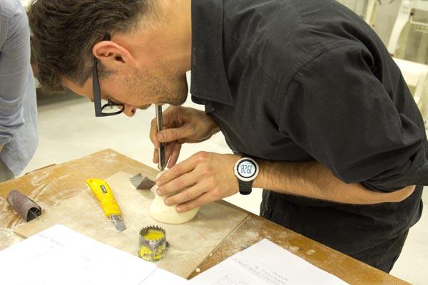 Miguel Abarca en workshop de diseño y creatividad impartido por discoh design en UPNA Tudela